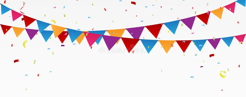 Geburtstagsfeierfahne stock abbildung