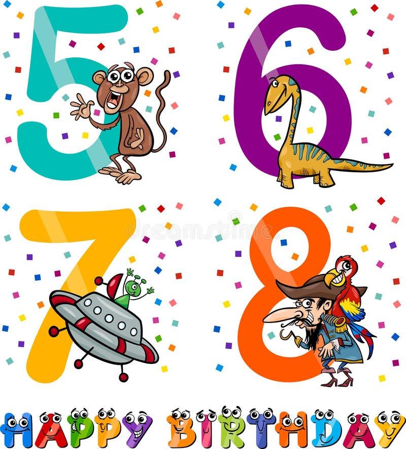 Geburtstagskarikaturdesign für Jungen vektor abbildung