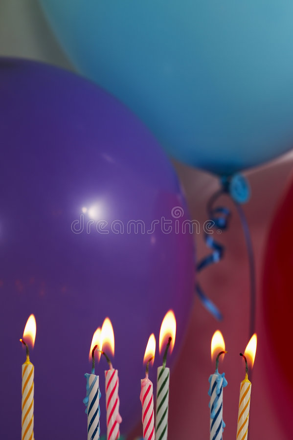 Geburtstagszene stockfotografie