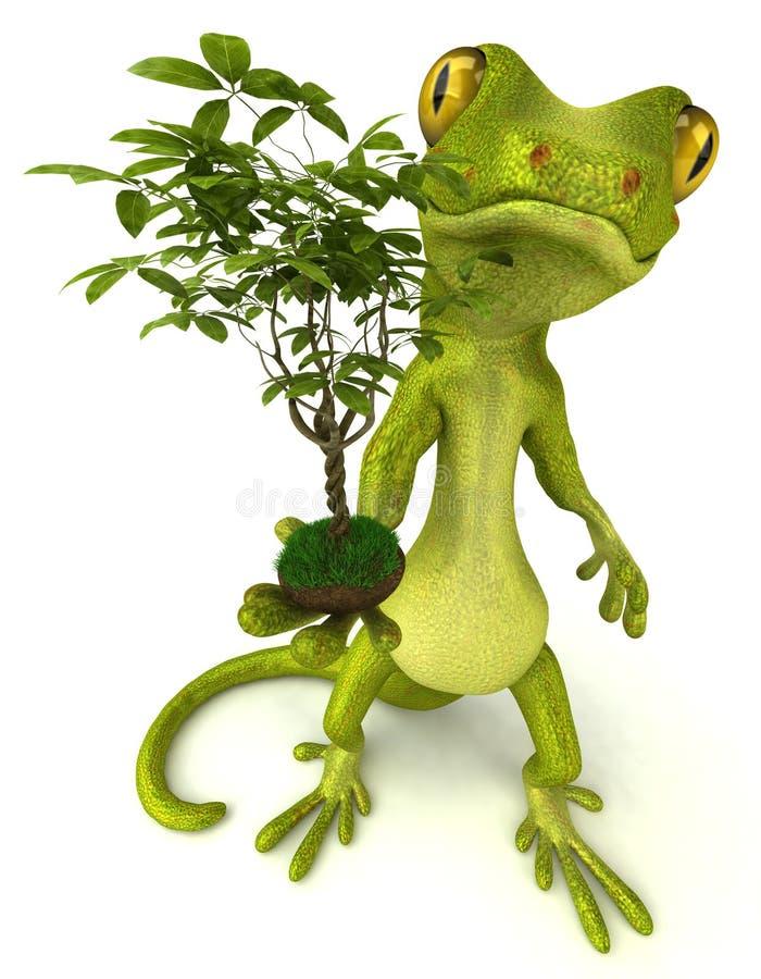 Download Gecko stock illustration. Image of beautiful, green, gecko - 11900382