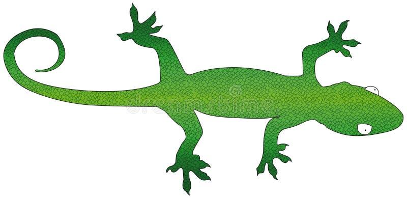 Gecko ilustração stock