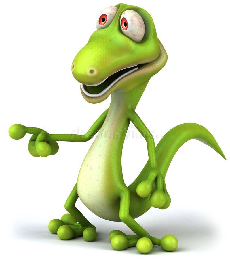gecko royaltyfri illustrationer