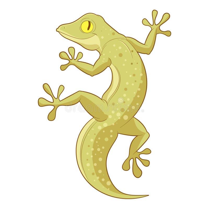 Gecko de sourire de bande dessinée illustration stock