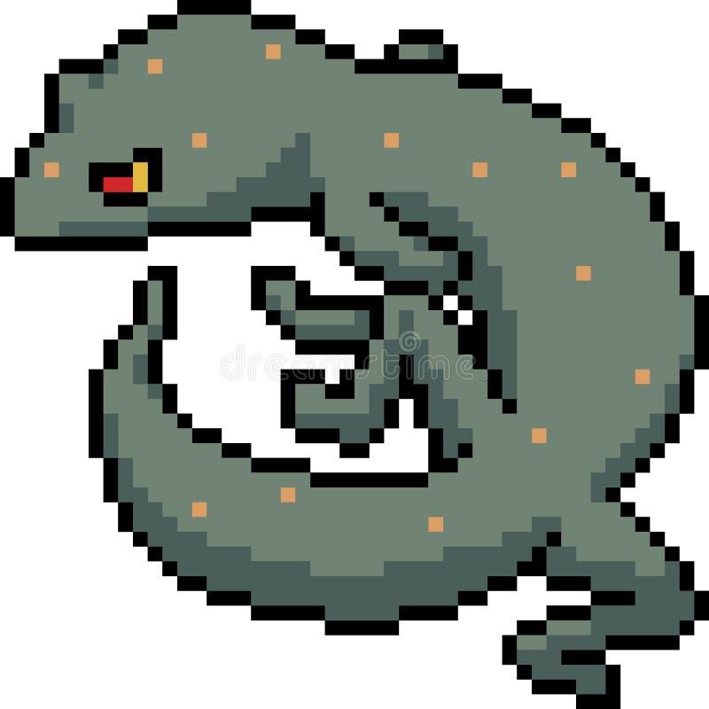 Gecko för gift för vektorPIXELkonst royaltyfri illustrationer