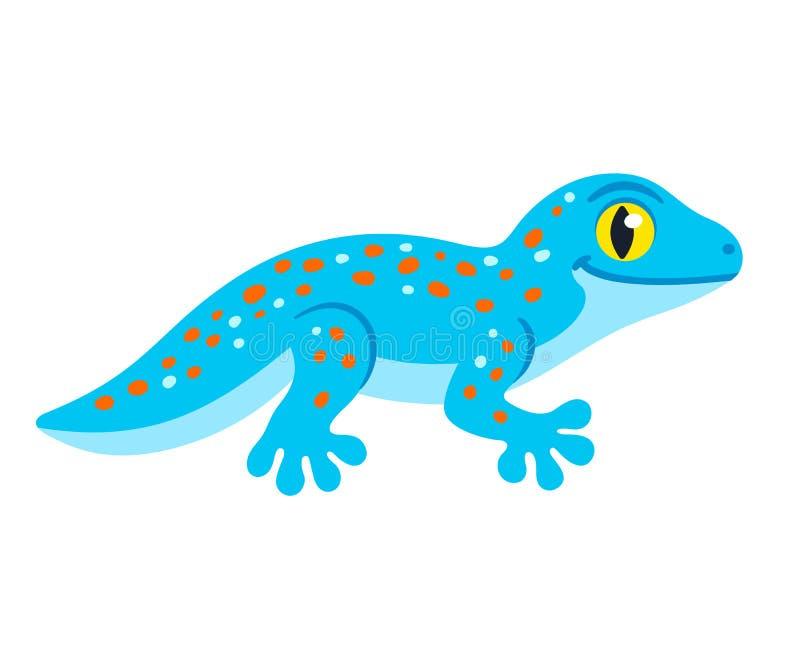 Gecko mignon de Tokay de bande dessinée illustration libre de droits