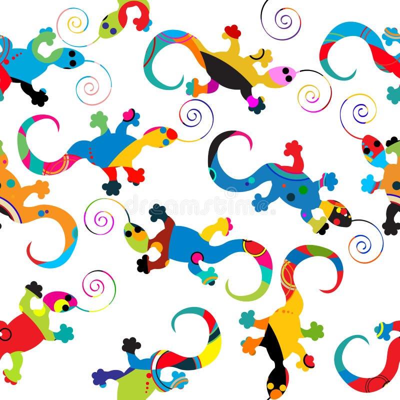 Gecko Pattern Stock Photo