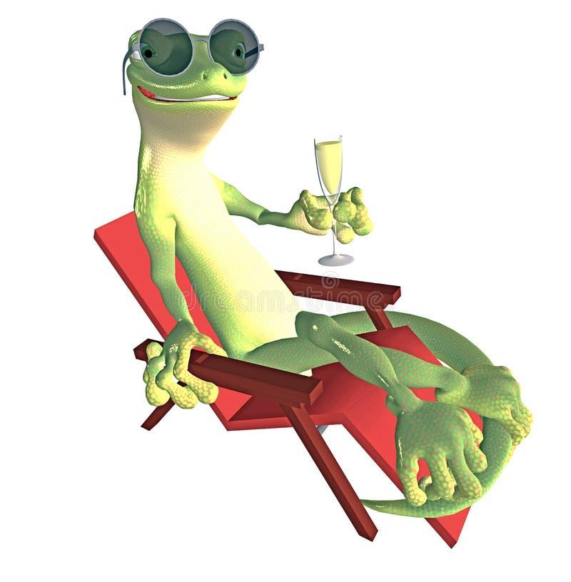 Gecko Toon royalty illustrazione gratis
