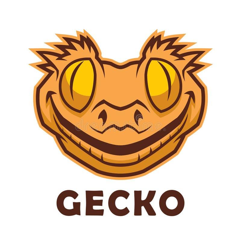 Geckohauptcharakter lizenzfreie abbildung