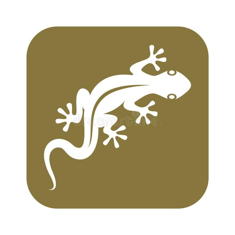 Geckologo vektor illustrationer