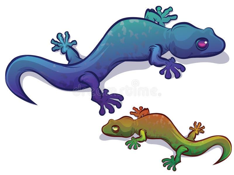 Geckosalamanderödla stock illustrationer