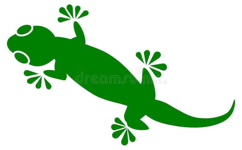 Geckovektor stock abbildung