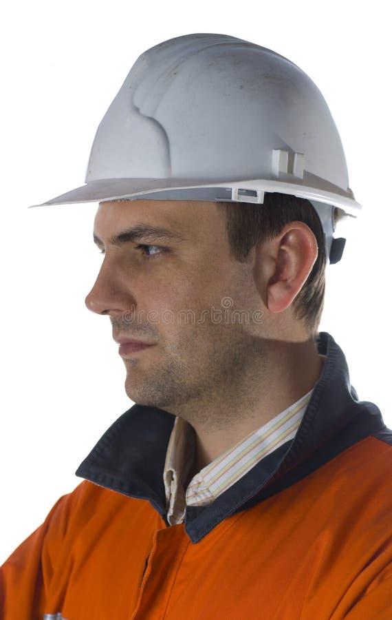Geconcentreerde mijnwerker stock afbeeldingen