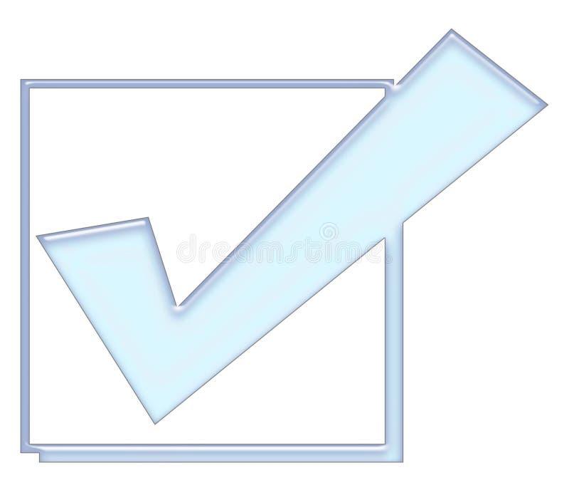 Gecontroleerde doos vector illustratie