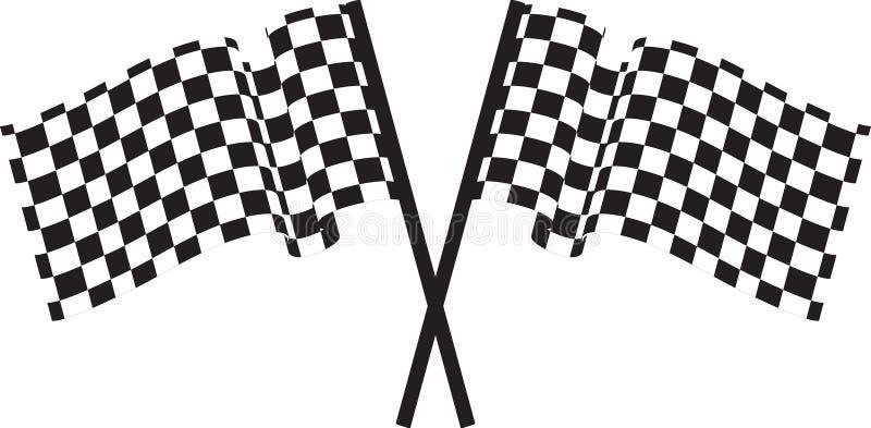 Gecontroleerde vlaggen vector illustratie
