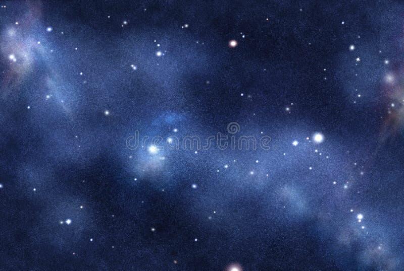 Gecreërd digitaal starfield vector illustratie