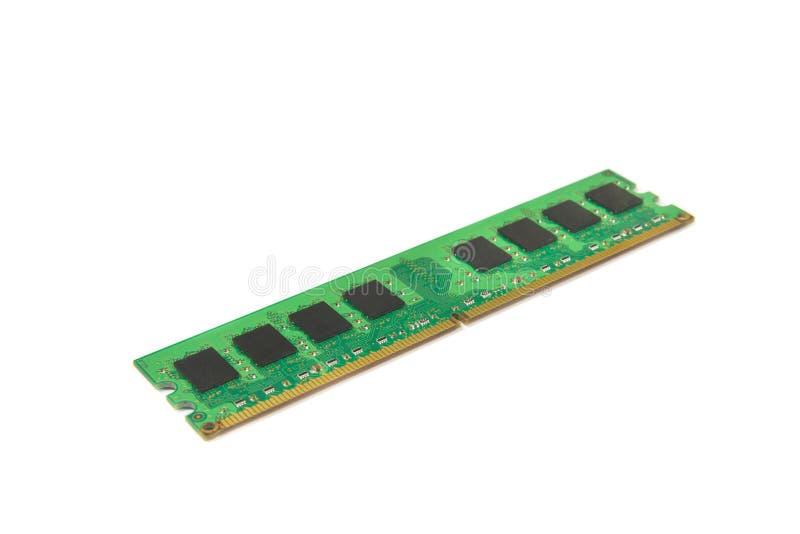Gedächtnismodul Computer DDR RAM lokalisiert auf der selektiven Fokussierung des weißen Hintergrundes stockfotos