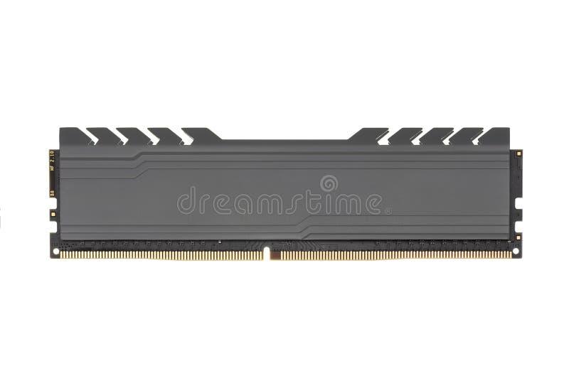 Gedächtnismodul DDR RAM lokalisiert auf weißem Hintergrund lizenzfreies stockbild
