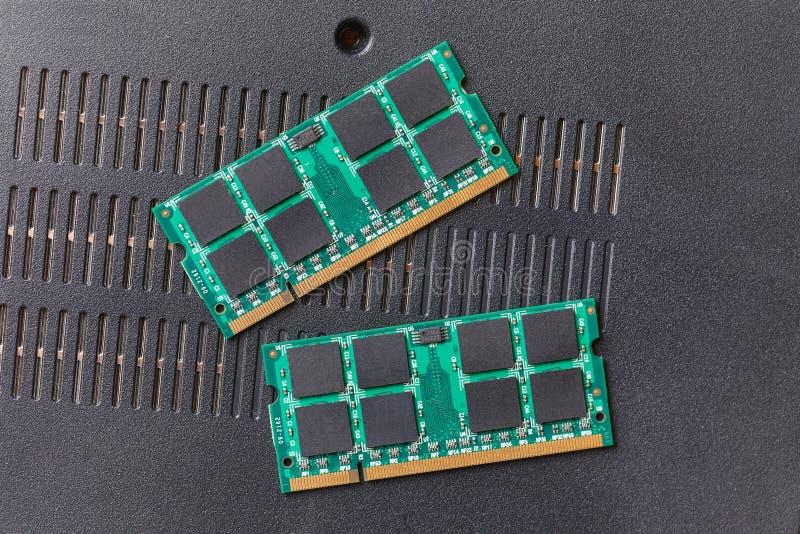 Gedächtnismodule für Laptops stockfotos