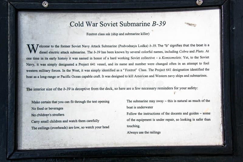 Gedächtnisschreibtisch auf einem von sumarines im berühmten Seemuseum USA San Diego lizenzfreie stockfotos