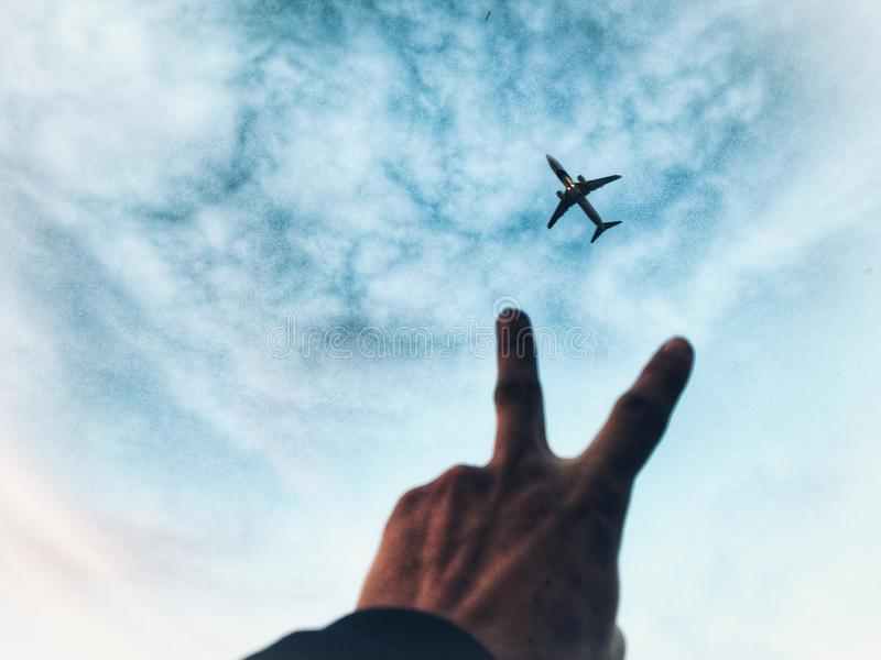 Gedächtnisse, Flugzeug, Flugzeug stockfoto
