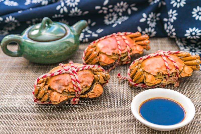 Gedämpfte Krabbe, eine Zartheit von Chongyang-Festival in China lizenzfreie stockfotos