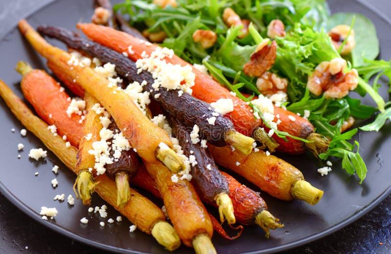Gedünsteter Karottensalat lizenzfreie stockfotos