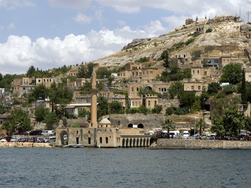 Gedaald dorp Halfeti in Gaziantep Turkije stock afbeeldingen