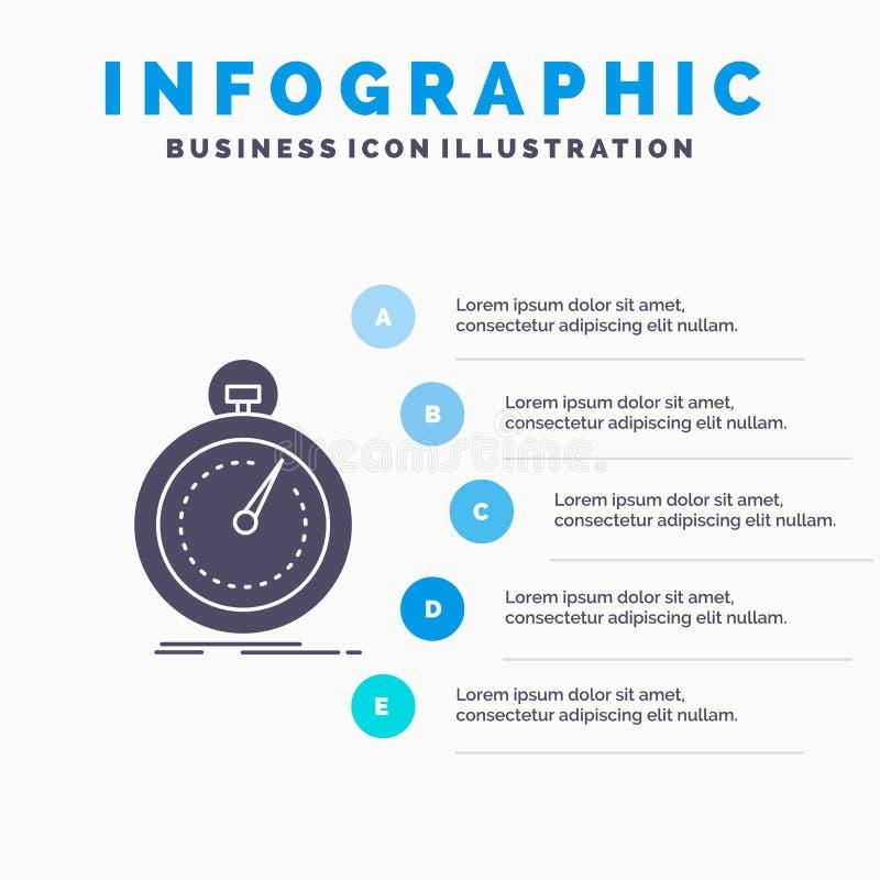 Gedaan, snel, optimalisering, snelheid, het Malplaatje van sportinfographics voor Website en Presentatie GLyph Grijs pictogram me vector illustratie