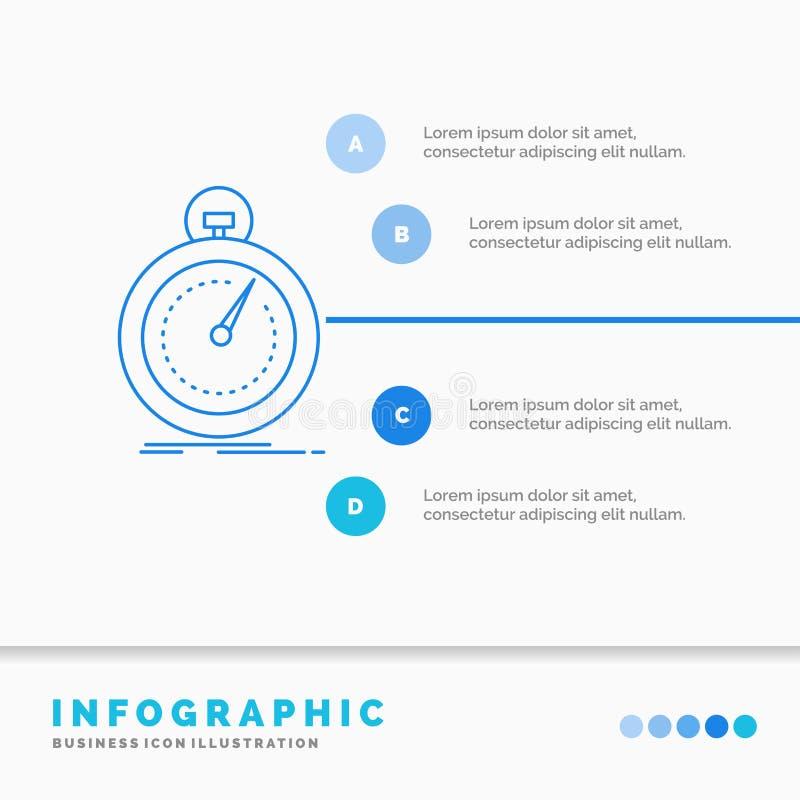 Gedaan, snel, optimalisering, snelheid, het Malplaatje van sportinfographics voor Website en Presentatie Infographic de stijlvect stock illustratie