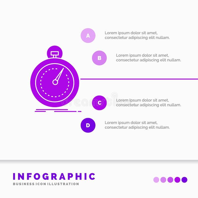 Gedaan, snel, optimalisering, snelheid, het Malplaatje van sportinfographics voor Website en Presentatie Infographic stijl van he vector illustratie
