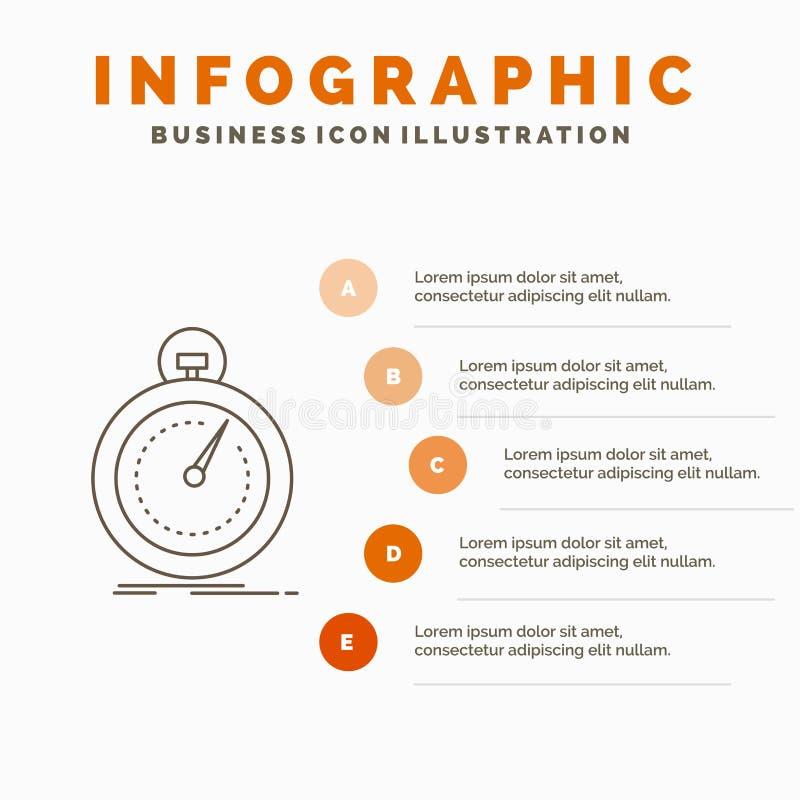 Gedaan, snel, optimalisering, snelheid, het Malplaatje van sportinfographics voor Website en Presentatie r royalty-vrije illustratie