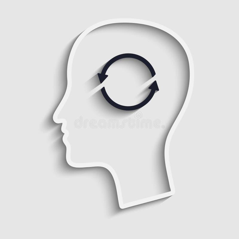 Gedachten en opties. vector illustratie