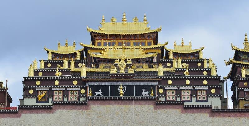 Gedan Songzanlin tibetan kloster, Shangri-La arkivfoton