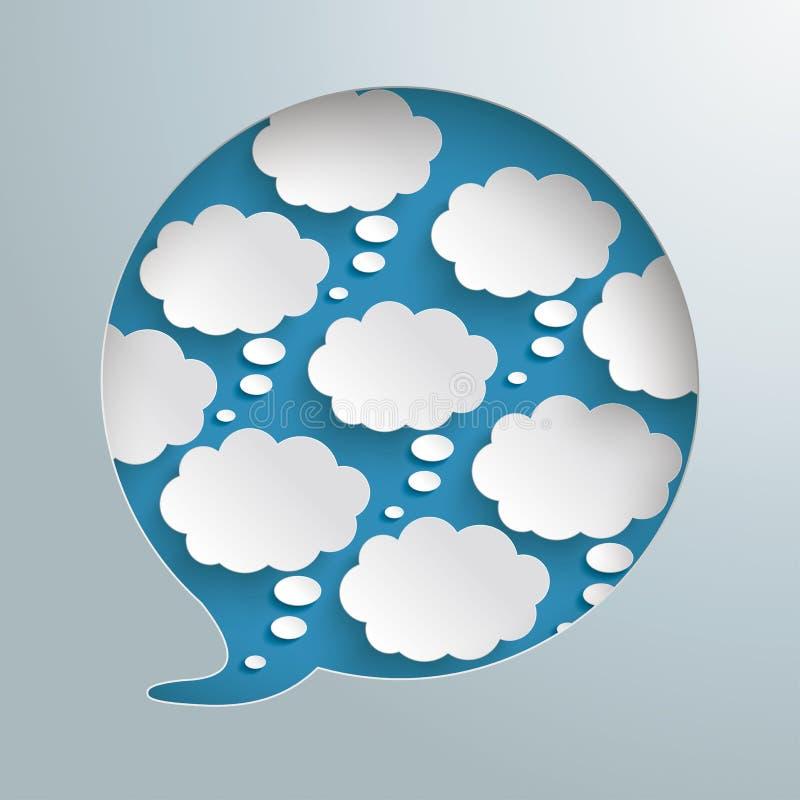 Gedanken-Blasen silbernes Infographic PiAd des Sprache-Blasen-Loch-8 vektor abbildung