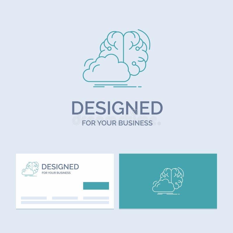 Gedanklich lösen, kreativ, Idee, Innovation, Inspiration Geschäft Logo Line Icon Symbol für Ihr Geschäft T?rkis-Visitenkarten lizenzfreie abbildung