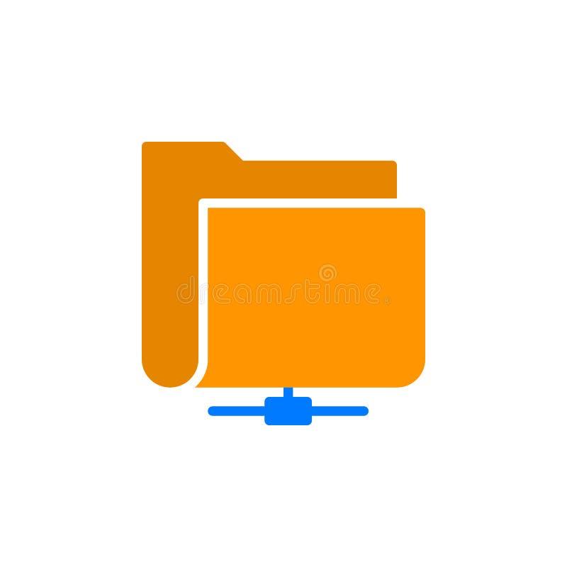Gedeeld het pictogram vector, gevuld vlak teken van de netwerkomslag, stevig kleurrijk die pictogram op wit wordt geïsoleerd stock illustratie