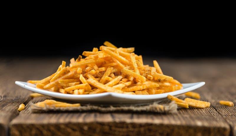 Gedeelte aardappelstokken royalty-vrije stock foto's