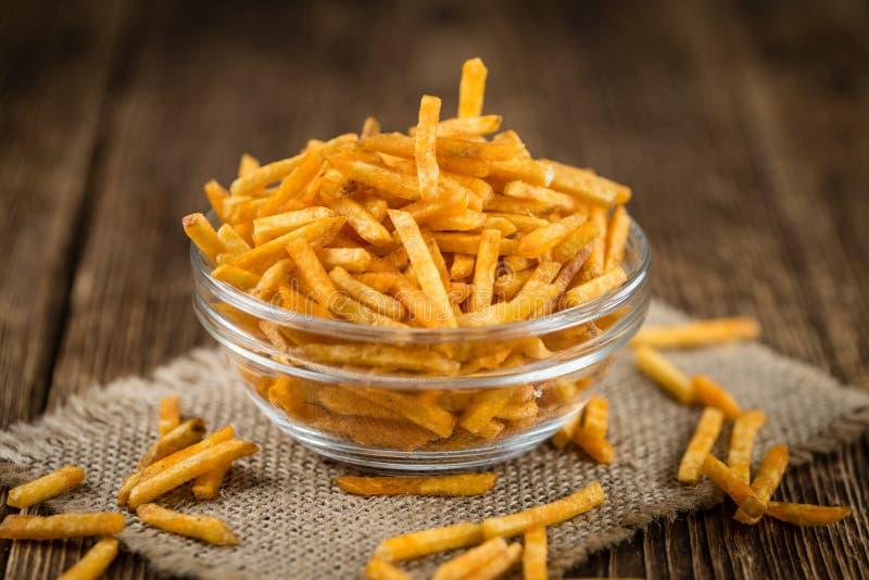 Gedeelte aardappelstokken royalty-vrije stock afbeelding