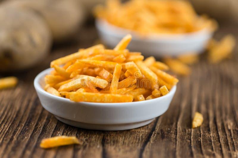 Gedeelte aardappelstokken royalty-vrije stock foto