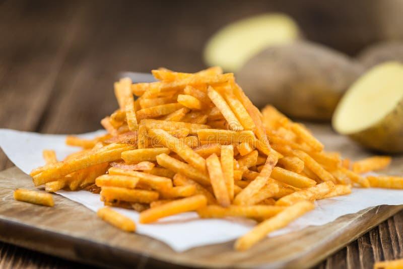 Gedeelte aardappelstokken royalty-vrije stock fotografie