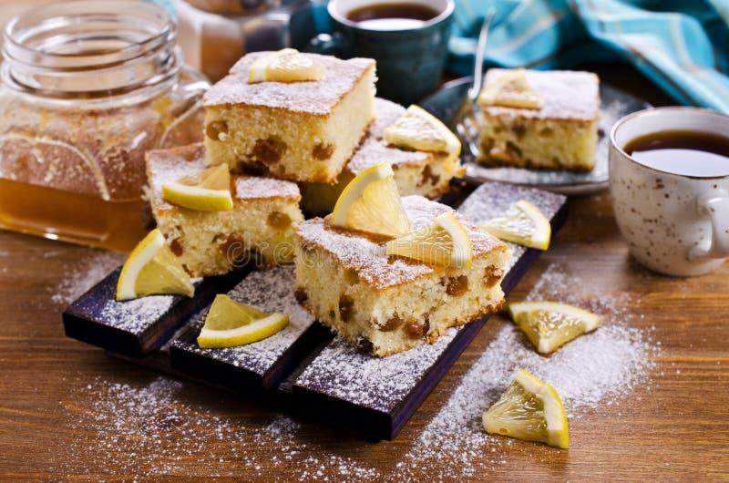 Gedeelte van Cake stock afbeelding