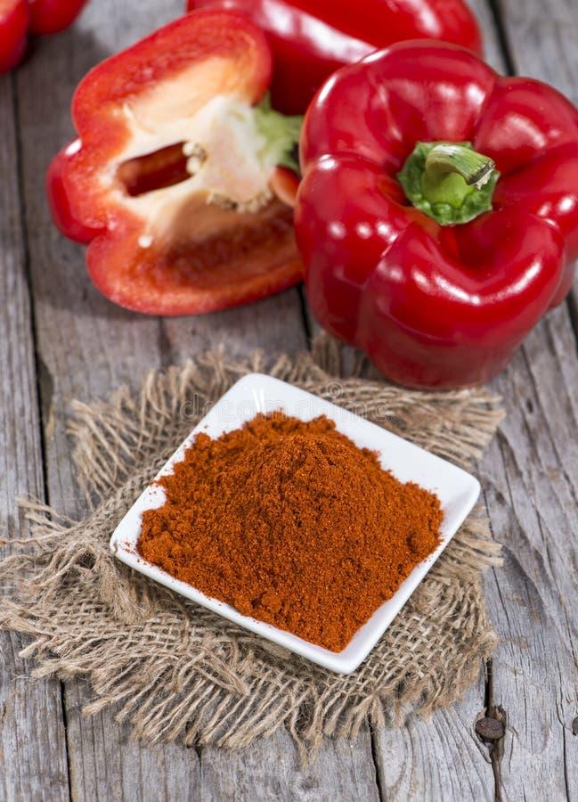 Gedeelte van Paprika Powder stock foto