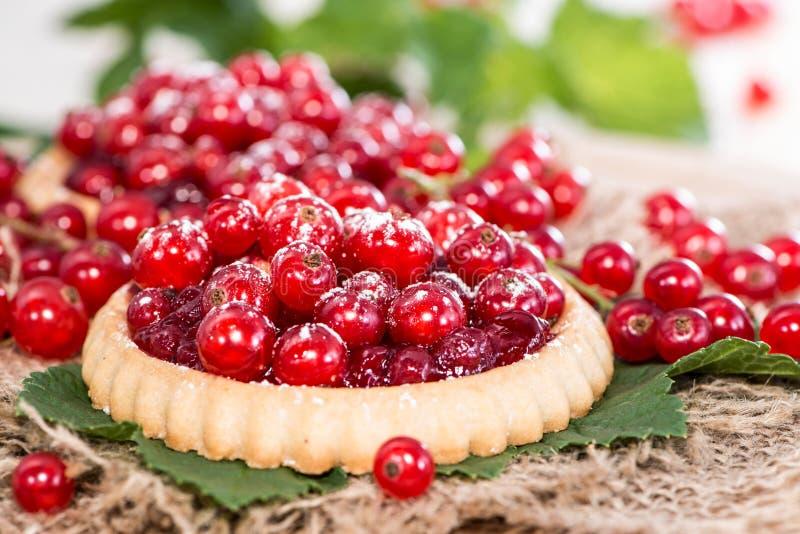 Gedeelte van Rode aalbes Cupcake stock fotografie