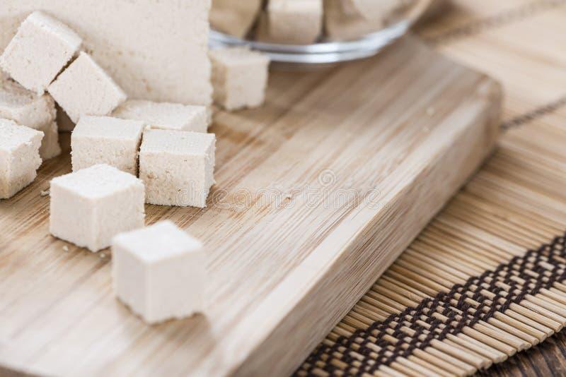 Gedeelte van Tofu royalty-vrije stock afbeeldingen