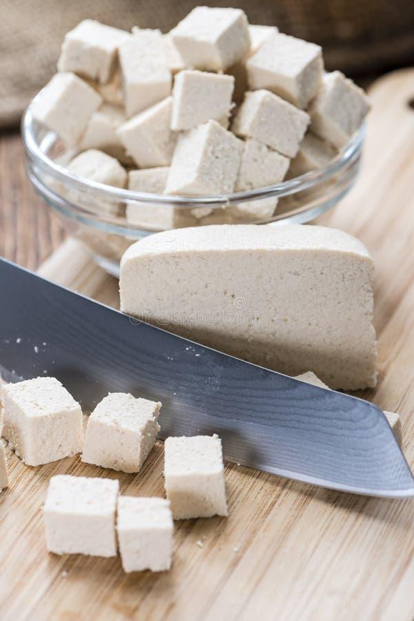Gedeelte van Tofu royalty-vrije stock afbeelding
