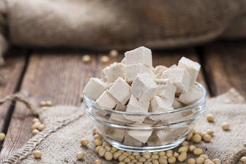 Gedeelte van Tofu royalty-vrije stock foto