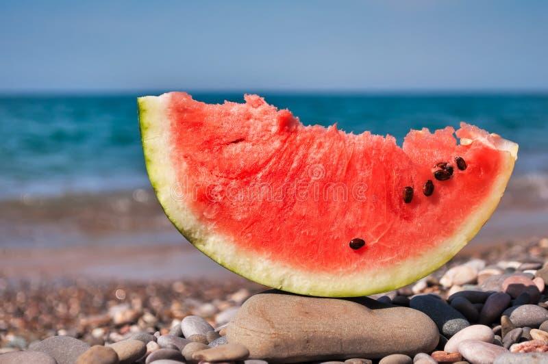 Gedeelte van watermeloen royalty-vrije stock afbeeldingen