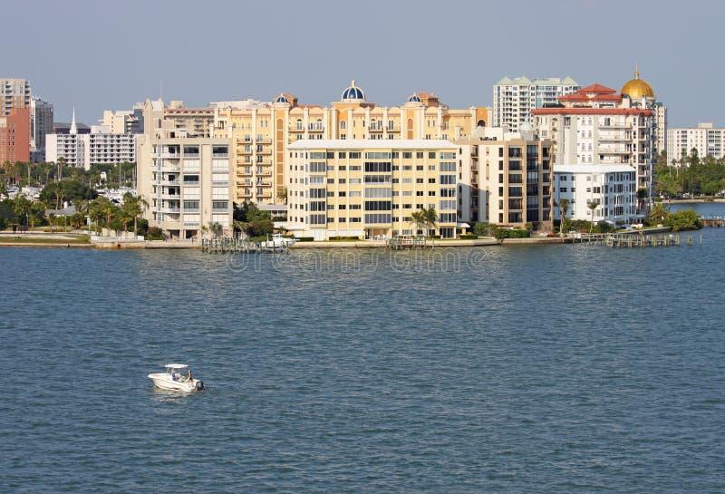 Gedeeltelijke horizon van Sarasota, Florida stock fotografie