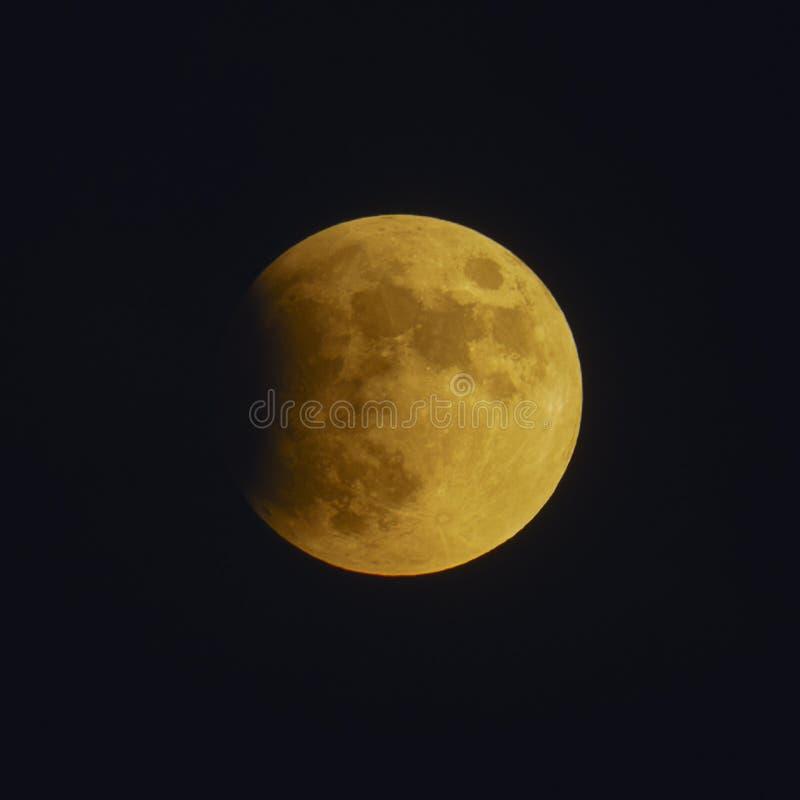 Gedeeltelijke Maan gezien Verduistering stock fotografie