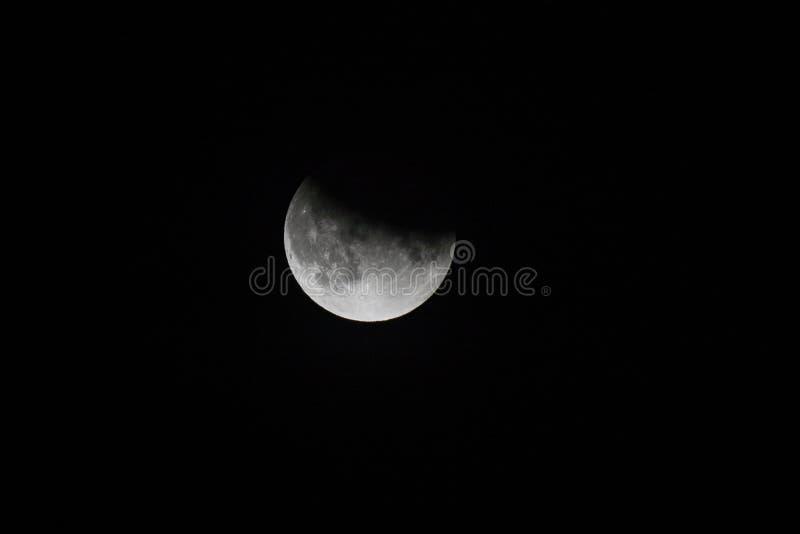 Gedeeltelijke MaanVerduistering stock fotografie